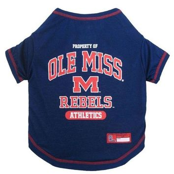 CUPUPHP Ole Miss Rebels Pet Tee Shirt