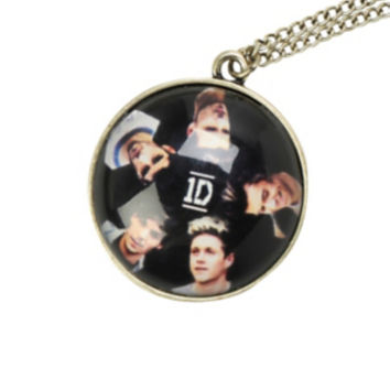 One Direction Band Photo Necklace