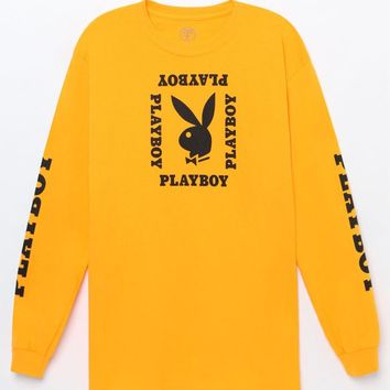 Good Worth x Playboy Bunny Head Long Sleeve T-Shirt at PacSun.com - gold | PacSun