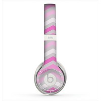 The Wide Pink Vintage Colored Chevron Pattern V6 Skin for the Beats by Dre Solo 2 Headphones