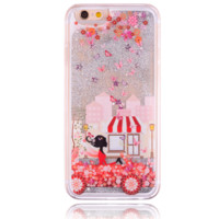 Unique shining sand Drive girl Phone Case Cover for Apple iPhone 7 7 Plus 5S 5 SE 6 6S 6 Plus 6S Plus + Nice gift box! LJ160927-005