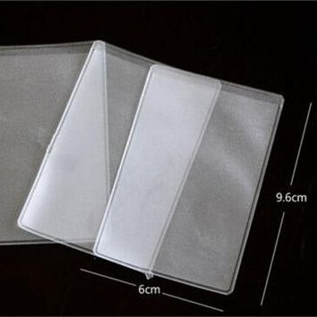 10p Pcs Dustproof Clear Card Holders 9.6x6cm Soft Plastic Credit Card Protectors Bussiness Card Cover ID Holders