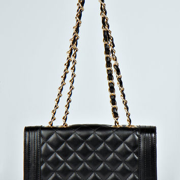 Riley Quilted Corner Detail Cross Body Bag