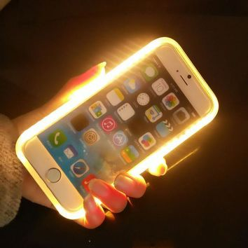 Selfie Light Up Glowing Phone Case for Apple iPhone