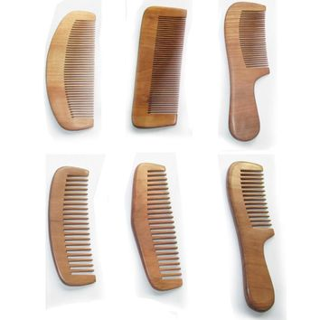 MUQGEW 1 pc styling tools hair wide tooth wooden comb escova de cabelo hair comb hair brush
