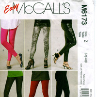 Women's PANTS & LEGGINGS Tights Close Fitting Skinny Jeans Pattern Body Hugging Pants Waist 30 32 34 37 McCalls 6173 UNCUT Sewing Patterns