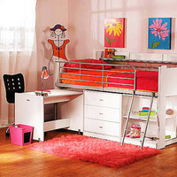 Walmart: Charleston Storage Loft Bed with Desk, White
