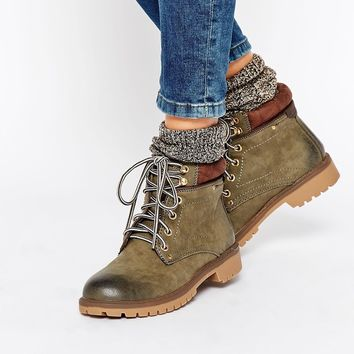 Call It Spring Corcione Khaki Ankle Boots