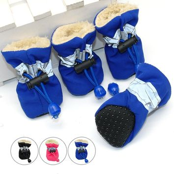 For Dogs- 4 Piece Waterproof Anti-Slip Rain/Snow Boots