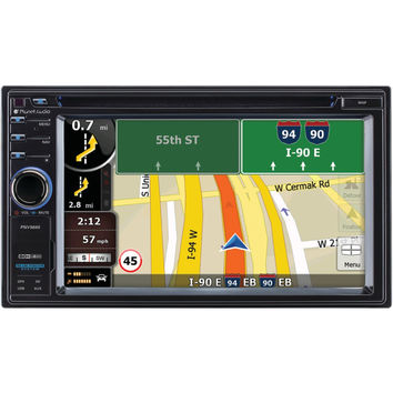 """PLANET AUDIO 6.2"""" Double-DIN In-Dash Navigation Touchscreen DVD Receiver with Bl"""