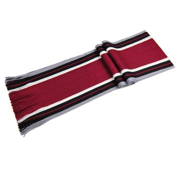 2017 Men Winter Scarf Classical Artificial Wool Scarf Male Tassels Scarf Striped Long Pashmina Shawl double faced