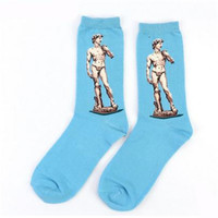 European Art Socks/Women, Blue David