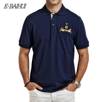 Summer style Men's cotton polo shirts Casual tops tees Shirt Embroidered Polo Slim Pol