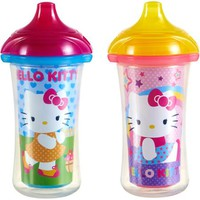 Munchkin Hello Kitty Click Lock 9 Oz Insulated Sippy Cup, BPA-Free, 2 count - Walmart.com