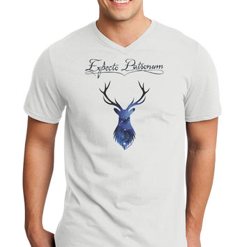 Expecto Patronum Space Stag Adult V-Neck T-shirt