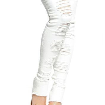 Distressed White Denim Thigh High Boots @ Cicihot Boots Catalog:women's winter boots,leather thigh high boots,black platform knee high boots,over the knee boots,Go Go boots,cowgirl boots,gladiator boots,womens dress boots,skirt boots.