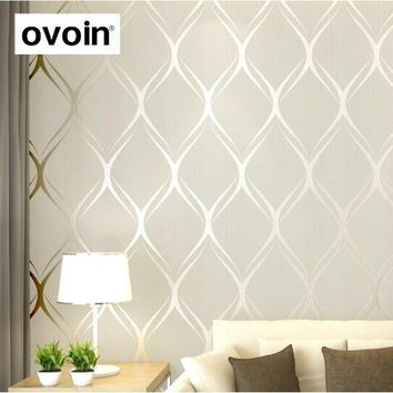 White Textured Modern Geometric Wallpaper Grey Gray Waves Wall Paper Rolls Light Teal Green Wall Coverings Beige