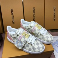 LV Louis Vuitton Women Fashion Casual Shoes Sneaker Boots White