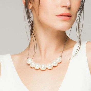 Gift New Arrival Jewelry Stylish Shiny Simple Design Pearls Necklace [4918869956]