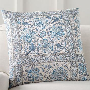 Karlie Block Print Pillow Cover