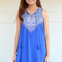 Costa Mesa Embroidered Swing Dress
