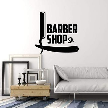 Vinyl Wall Decal Barbershop Hair Salon Interior Hairdressing Decor Stickers Mural (ig5784)