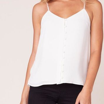 BB Dakota - Ivory Crazy Little Thing Spaghetti Strap Top
