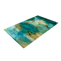"Rosie Brown ""Waterfall"" Teal Blue Woven Area Rug, 4' x 6'  - Outlet Item"