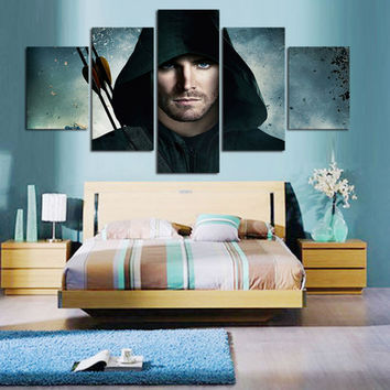 5 Panels Arrow Canvas Print Painting Wall Art