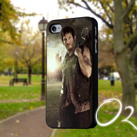 Walking Dead Daryl Dixon and crossbow-Case,IPhone4/4s,IPhone5/5s/5c,Accessories,Samsung galaxy s3 i9300,samsung galaxy s4 i9500,Cover-2410P9