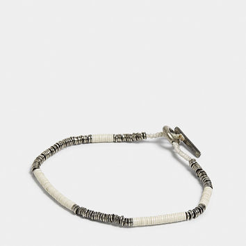 M. COHEN Sterling silver and vinyl bracelet