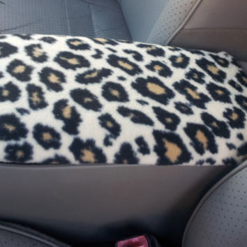 Center Console Cover CHEETAH or ZEBRA PRINT for Ford Explorer 2011 to 2012 (Sample Picture) Lid Cover