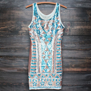 all that sequins bodycon party dress