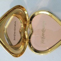 Yves Saint Laurent Dazzling Emerald Green Crystal Jewel Heart Compact YSL