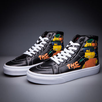 Trendsetter VANS X Simpson SK8-Hi Flats Ankle Boots Sneakers Sport Shoes