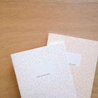 MEMPHIS PINK Set of 2 small notebooks