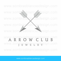 OOAK Premade Logo Design - Silver Arrows - Perfect for a jewelry brand or a vintage finds shop