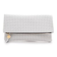 CLARE VIVIER Woven Fold Over Clutch | SHOPBOP