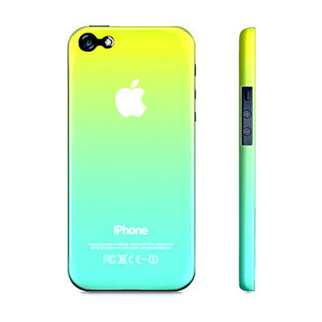 Lime Green & Turquoise Ombre - Premium Slim Fit Iphone 5 Case