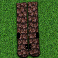 Kanye West Face Collage Socks,Custom socks,Personalized socks,Elite socks