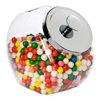 The Container Store > Glass Slant Jar with Metal Lid