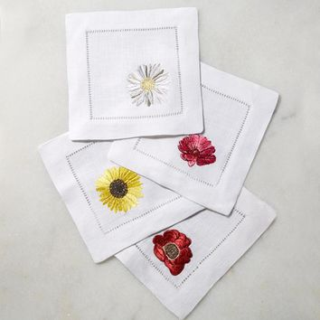Fiori Cocktail Napkin by Sferra