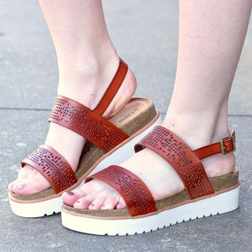 Not Rated: Anatalia Tan Flatform Sandals
