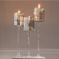 Set of Three Candle Holders | Tall Candle Holders | Table Candle Holders