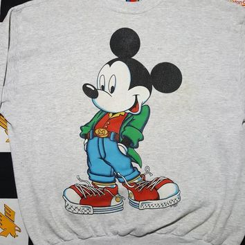 Vintage Mickey Mouse Jerry Leigh Walt Disney Crewneck  Sweatshirt Sz XL mickey unlimited