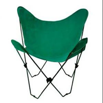 Algoma Net Company 4053-50 Black Butterfly Chair with Hunter Green Cover