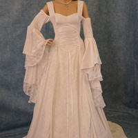 Renaissance wedding dress, medieval dress, handfasting gown, wedding dress, fantasy dress, off shoulder dress,  custom made
