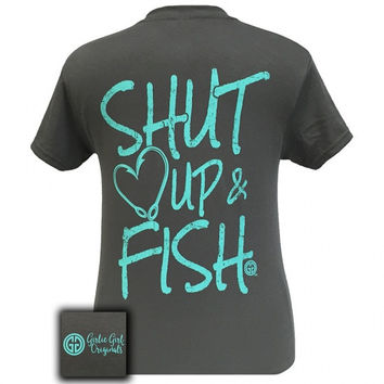 Girlie Girl Originals Preppy Shut Up & Fish T-Shirt