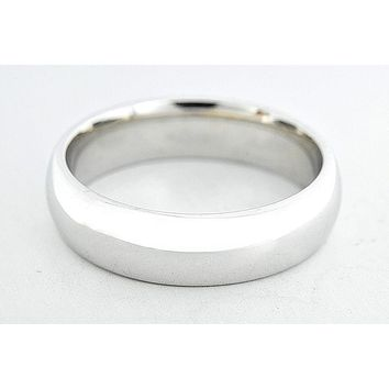 Real Men's Heavy 6.26 mm Wide SOLID 14k White GOLD Wedding Band