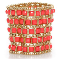Beautiful Stretch Bracelet - Coral Bracelet - $23.00
